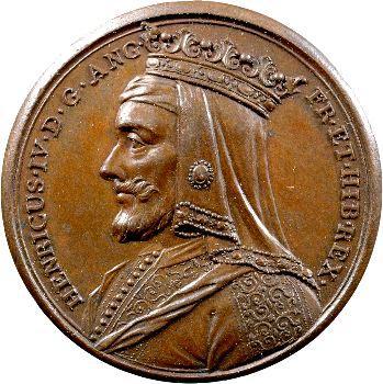 Angleterre, série des Rois par Jean Dassier, Henri IV, s.d. (c.1731-1732)