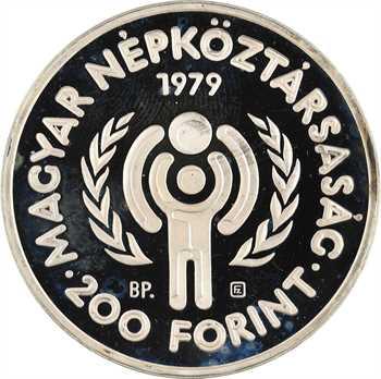 Hongrie, 200 forint, année internationale de l'enfance, 1979 Budapest PROOF