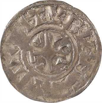 Bourges (vicomté de), au nom de Lothaire II, denier immobilisé, Bourges, s.d. (avant 980)