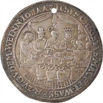 Allemagne, Hambourg, médaille de mariage au module du demi thaler, c.1635