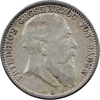 Allemagne, Bade (Grand-duché de), Frédéric I, 2 mark, 1903 Karlsruhe