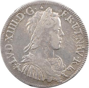 Louis XIV, demi-écu à la mèche longue, 1655 Troyes