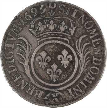 Louis XIV, demi-écu aux palmes, 1695 Amiens