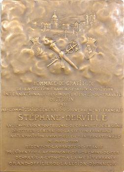 Turin (Exposition de Turin en 1911), Stéphane Dervillé, commissaire général, par Puech