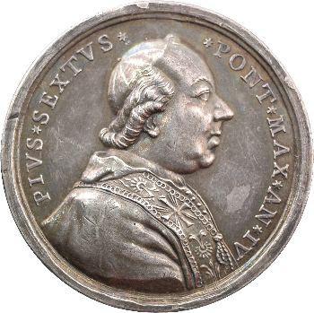 Vatican, Pie VI, médaille annuelle, la Liberté, 1778/IV Rome