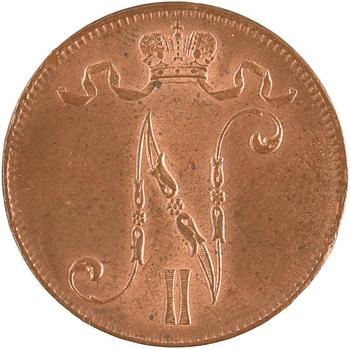 Finlande, 5 Penniä, 1916, cuivre – 9
