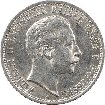 Allemagne, Prusse (royaume de), Guillaume II, 2 mark, 1911 Berlin