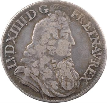 Louis XIV, demi-écu à la cravate ou au jabot, 2e type, 1683 Paris
