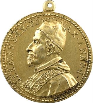 Vatican, Clément IX, médaille annuelle par Hamerani, An I (1667)