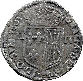 Henri IV, quart d'écu de Navarre, 1603 Saint-Palais