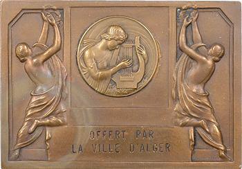 Algérie, Alger, plaque offerte par la ville, s.d. (1956) Paris