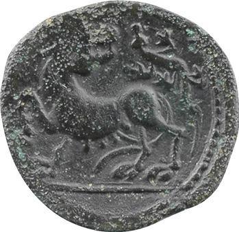 Carnutes, bronze PIXTILOS à la louve, classe II, c.40-30 av. J.-C.