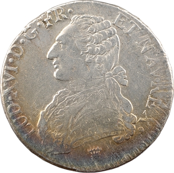 Louis XVI, écu aux branches d'olivier, 1777 Limoges