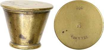Pile à godet en cuivre de 500 grammes, XIXe siècle (après 1847)