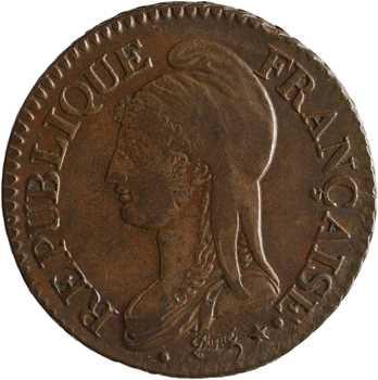 Directoire, cinq centimes Dupré, An 7/5 Paris/Rouen coq/urne