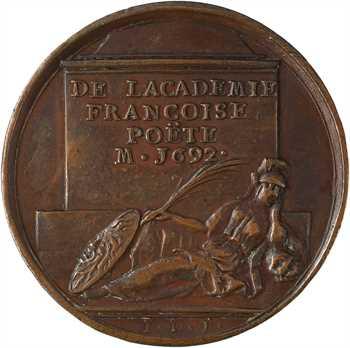 Jean de La Fontaine, par J. Dassier, 1692