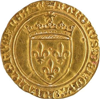 Charles VIII, écu d'or au soleil, 1re émission, Tours