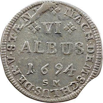 Hanau-Lichtenberg, Philippe-René, 6 albus, 1694