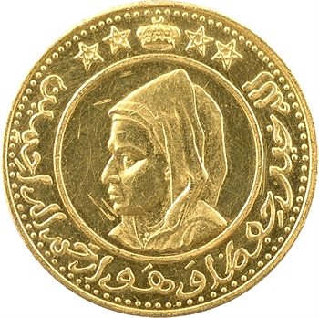Maroc, Mohammed V, médaille d'or, 1372 AH (1952-1953)