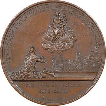 Louis-Philippe Ier, bicentenaire du vœu de Louis XIII, par Penin, 1838 Lyon