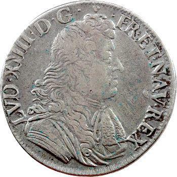 Louis XIV, demi-écu à la cravate, 2e émission, 1679 La Rochelle
