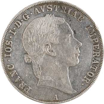 Autriche, François-Joseph Ier, vereinsthaler, 1855 Vienne