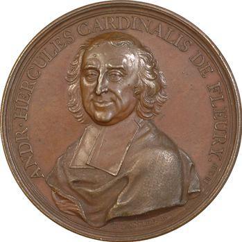 Louis XV, le Cardinal de Fleury et la Paix de 1735, par Dassier, 1736 Genève