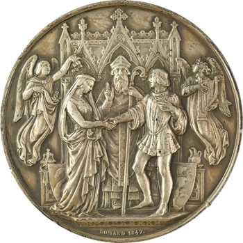 Ve république, médaille de mariage, par Domard, 1847 (1965) Paris