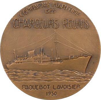 IVe République, Compagnie Maritime des Chargeurs Réunis, le paquebot Lavoisier, par Fraisse, 1950 Paris