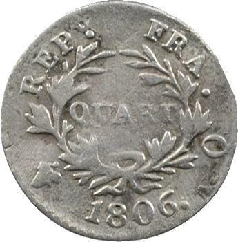 Premier Empire, quart de franc, 1806 Perpignan