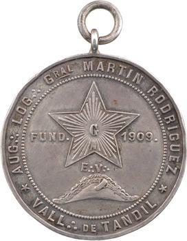Argentine, loge du général Martin Rodriguez, 1909