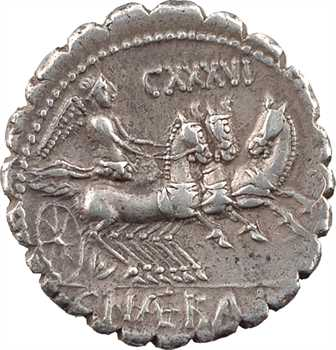 Naevia, denier serratus, Rome, 79 av. J.-C.
