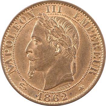 Second Empire, cinq centimes tête laurée, 1862 Paris
