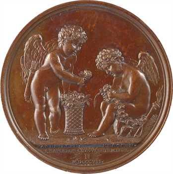 Premier Empire, mariage de Jérôme Napoléon et Catherine de Würtemberg, par Andrieu, 1807 Paris