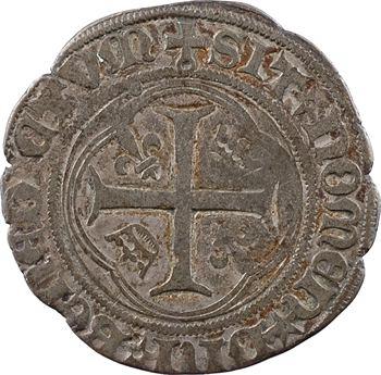Charles VIII, blanc à la couronne (molettes/molettes), cantonnement inversé, Châlons-en-Champagne