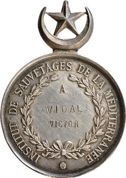 Tunisie, médaille d'honneur de sauvetage, prix Gay de Tunis