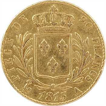 Louis XVIII, 20 francs buste habillé, 1815 Paris