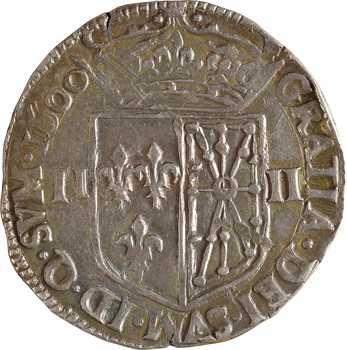 Henri IV, quart d'écu de Navarre, 1600 Saint-Palais