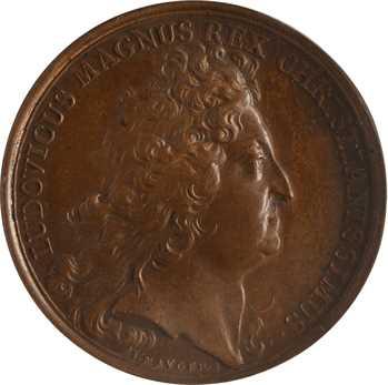 États-Unis / France, Louis XIV, prise de Carthagène en Amérique par Mauger, 1697 Paris, PCGS MS64BN