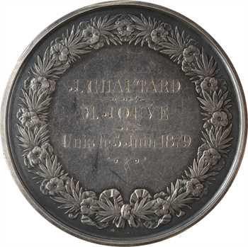 IIIe République, médaille de mariage, par Domard, 1879 Paris