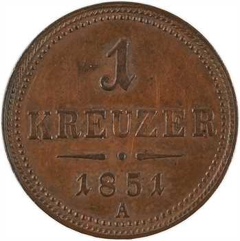Autriche, François-Joseph Ier, 1 kreuzer 1851