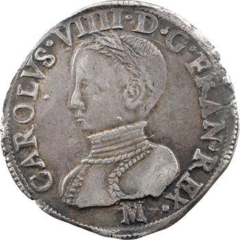 Charles IX, teston 2e type, 1568 Toulouse