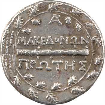 Macédoine sous domination romaine, tétradrachme, Amphipolis, c.158-150 av. J.-C.