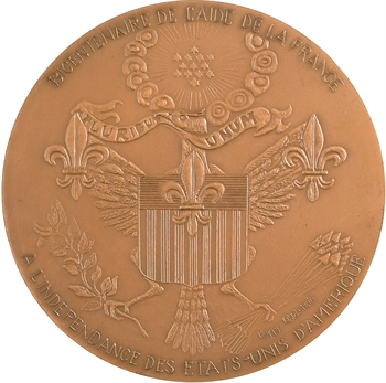États-Unis, bicentenaire de l'aide de la France à l'indépendance des États-Unis (La Concorde), par Goldstein, 1991 Paris