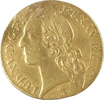 Louis XV, louis d'or au bandeau, 1742 Besançon