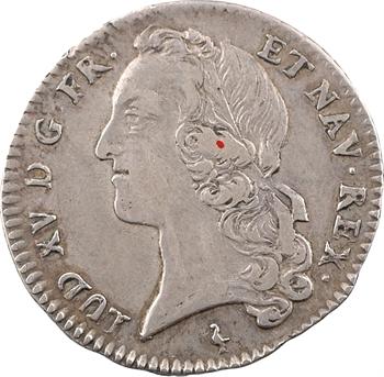 Louis XV, cinquième d'écu au bandeau, 1763 Paris
