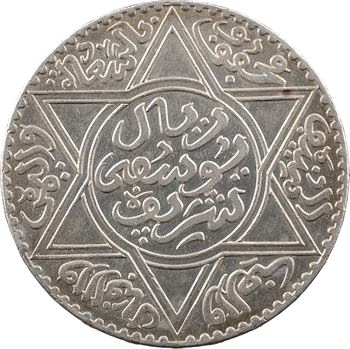 Maroc, Moulay Youssef ben Assad, 10 dirhams ou 1 rial, AH 1331 (1912) Paris