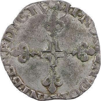 Italie, Desana (Comté de), Dauphin Tizzone, pinatelle ou double sol parisis, 1584 Passerano