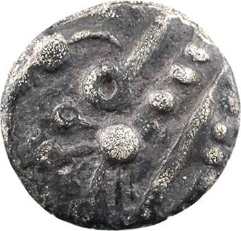 Bellovaques, quart de statère en argent à l'astre, c.80-50 av. J.-C.