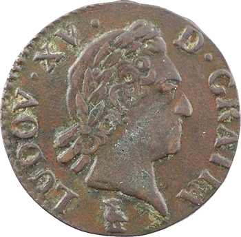 Louis XV, liard à la vieille tête, 1771 Troyes